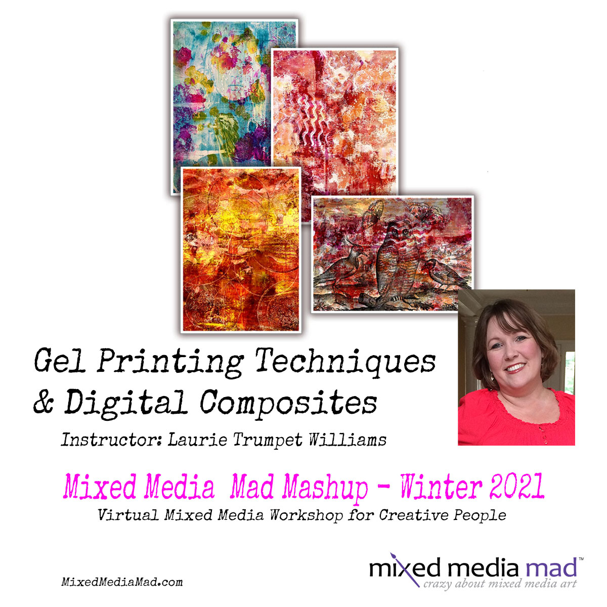 Abstract Gel Printing Techniques & Digital Composites